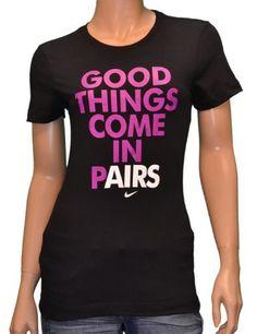 "Nike Women's ""Good Things Come In Pairs"" Shirt-Black Nike"