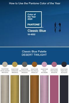 Pantone Color of the Year 2020 - Palette Exploration Blue Colour Palette, Blue Color Schemes, Color Combos, Pantone Colour Palettes, Pantone Color, Paleta Pantone, Pantone 2020, Design Studio, Color Of The Year
