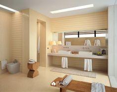 WALL Suite chic e classic duna Suite duna mosaico FLOOR Suite chic duna #fapceramiche #fapsuite #ceramic #interior #floor #madeinitaly #tile