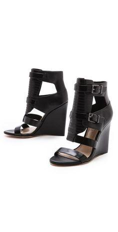 BCBGMAXAZRIA Lidelle Cutout Wedge Sandals   SHOPBOP