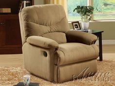 Shop Acme Furniture Arcadia Sage Fabric Glider Recliner with great price, The Classy Home Furniture has the best selection of Recliners to choose from