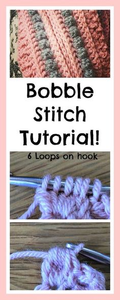 How To Crochet The Bobble Stitch Yarn Pinterest Bobble Stitch