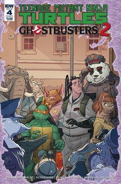 TMNT GHOSTBUSTERS II #4 CVR A SCHOENING (2017) Ninja Turtle Toys, Ninja Turtles Art, Teenage Mutant Ninja Turtles, Batman Tmnt, Ghostbusters Ii, Horror Comics, Cover Art, Art Sketches, Marvel