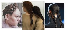Çift Örgü Plait Saç Modelleri