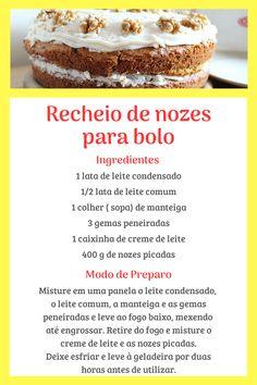 Easy Birthday Cake Recipes, Best Dessert Recipes, Fun Desserts, Brazillian Food, Good Food, Yummy Food, Cupcakes, Food Hacks, Cake Decorating