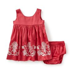 Tea Collection Pantheon Embroidered Baby Dress
