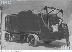 Warszawa 1937 r., śmieciarka typu Faun na podwoziu francuskiej elektrycznej ciężarówki Sovel BOM. Pytanie tylko czy była używana w Warszawie czy tylko ją zaprezentowano.