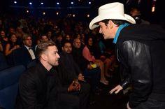 Justin Timberlake and Brad Paisley