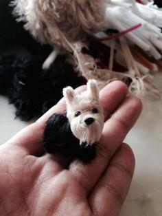 Yorkshire Terrier  Pipecleaner,wool.Pipe cleaner artist,Atsushi Kitanaka.