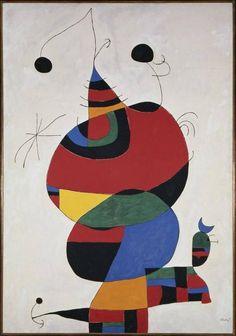 Joan Miro - Woman, Bird and Star (Homage to Picasso) 1966/1973. Museo Nacional Centro de Arte Reina Sofia.
