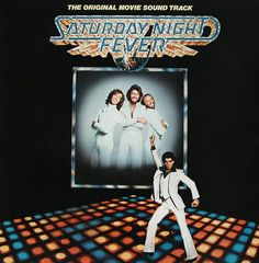 Disco fever: The Bees Gees captured the look of an era on the cover of the Saturday Night Fever album