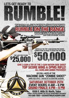 $50,000 3-Gun Nation Rumble on the Range. We need one of these in Minnesota!!!!