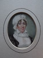19TH Century ORIGINAL   MINIATURE PORTRAIT PAINTED ON IVORY  &  Framed