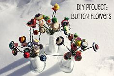DIY Project: Button Flowers by Ink & Button - yoyo diaries