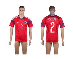 489a0704ad2 AAA+ Thailand 2014 Brazil World Cup Columbia 2 ESCOBAR Away Red Soccer  Jersey prices USD $19.50