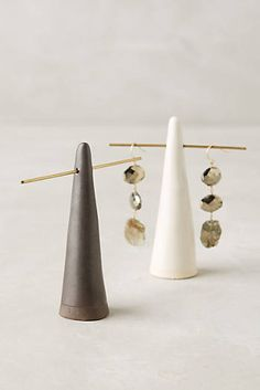 Glazed Ceramic Ring Cone-display idea