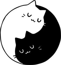 Yin Yang Wall Art Black and White Circle Art Best Seller Arte Yin Yang, Ying Y Yang, Yin Yang Art, Yin And Yang, Pencil Art Drawings, Kawaii Drawings, Easy Drawings, Art Sketches, Circle Art