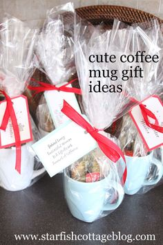 Visit Starfish Cottage today to see a cute under $10 DIY coffee mug Christmas gift idea! http://starfishcottageblog.com/cute-christmas-coffee-mug-gifts/