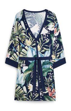 Sleepwear & Loungewear, Nightwear, Primark Pjs, Purple Lingerie, Pencil Skirt Black, Pencil Skirts, Pajama Shirt, Satin Blouses, Palm Print