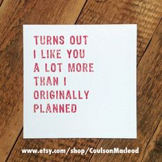 Funny Engagement Card Funny Love Card Funny by CoulsonMacleod