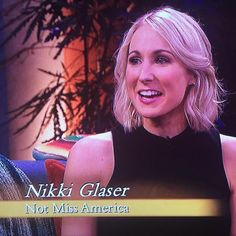 Nikki Glaser on a TV interview