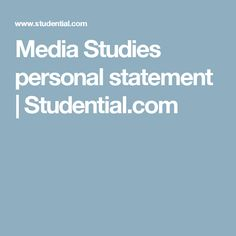 Writing a Personal Statement University of Portsmouth  Writing a Personal  Statement University of Portsmouth