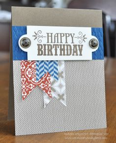 Stampin' Up! Birthday Card by Beth M at Card Creations by Beth: Masculine Birthday