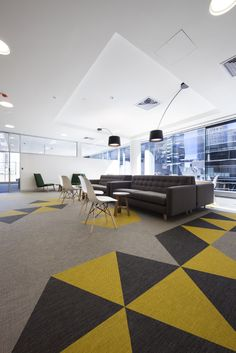 Energy Safe Victoria Melbourne HQ - Executive lounge with flooring by Bolon