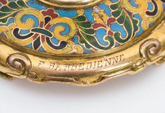 F. Barbedienne - A pair of fine gilt bronze and cloisonné enamel candlesticks   eBay
