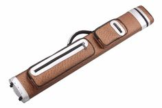Billiard Cue Stick Case - 6 Hole - Holds 2 Butts and 4 Shafts - 2 large pockets for accessories - 85cm Length