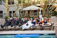 Chillin' by the pool! Great photo, Kacy Hughes Photography!