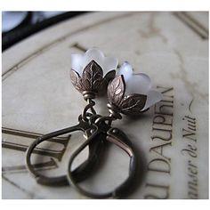 Frosted Flower Earrings