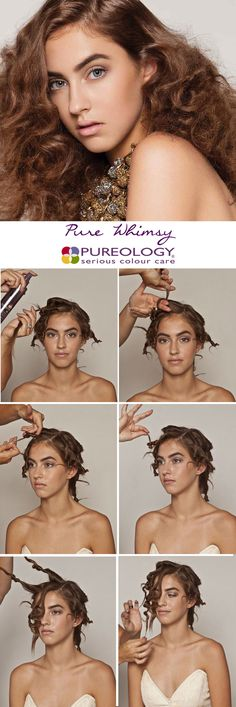 Get this whimsical look with this step-by-step or ask your Pureology stylist to recreate it for you!
