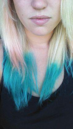 Blue Kool-Aid Hair Dye