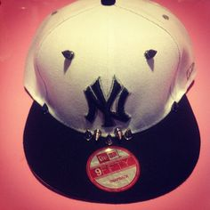 84287c9e087 Spiked Out Yankee Snapback this hat is awesome!! Yankees Baby