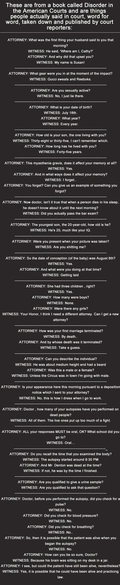 I could not read through without cracking up - so sad. How do court reporters keep straight faces?? - Imgur