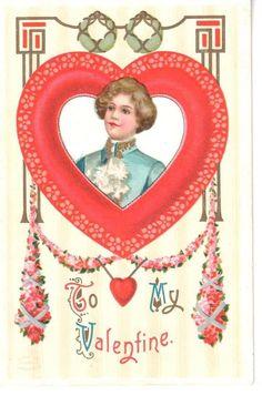 Lot 6 Vintage Valentine Postcards Beautiful Ladies Gents Cupid Hearts | eBay