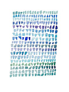 Sea Glass painting Watercolor painting Seaglass door LouiseArtStudio, $100.00