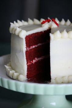 Perfect red velvet cake.