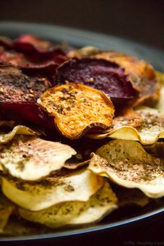 Veggie Chips with Za& - Vegetable Chips with Za& - The Healthy Cook Recipes - Vegetable Chips, Cooking Recipes, Healthy Recipes, Mediterranean Recipes, Holiday Treats, Palak Paneer, Farmers Market, Kids Meals, Carne