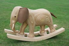The Rocking Elephant. (JamesHarveryFurniture.com)  Ok so my kid will never have this (see the price?) but it is beautiful!