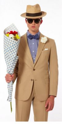 Image from Ovadia & Sons, weekend, flowers, date, man, men, men's fashion, mens fashion, mens style, hat, summer, man with flowers, flowers,