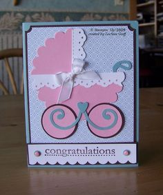 punch art   Punch art baby carriage card