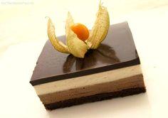 Tarta mousse de chocolate y crema de vainilla - MisThermorecetas