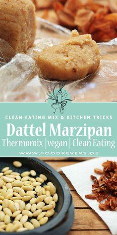 Dattel Marzipan aus dem Thermomix. Gesund, zuckerfrei, vegan, Clean Eating geeignet. Schmeckt nicht nur zu Weihnachten. Ein schnelles tm5 und tm31 Rezept. Mandeln gehören in eine gesunde Ernährung. Gesund naschen ohne Reue. #dattel #marzipan #zuckerfrei #vegan #cleaneating #glutenfrei #laktosefrei #weihnachten #rezepte #thermomix #tm5 #tm31 #mandeln #backen #gesundeernährung #eatclean #food #healthyfood #healthyrecipes