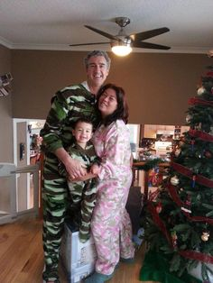 Camo Christmas fleece pink camo 207 and green camo 208 Christmas Pajamas cff126d48