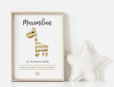 Personalisierte individuelle Babyposter Geburtsposter Kinderzimmer Geschenk Baby Poster, Birth, Place Cards, Place Card Holders, Etsy, Invitations, Creative, Gifts, Being A Mom