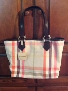 Great Burberry summer nova check tote!