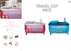 Travel Cot Mice by Asalvo l #madewithlove