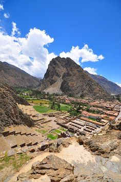 Ollantaytambo in the Sacred Valley near Cusco, Peru